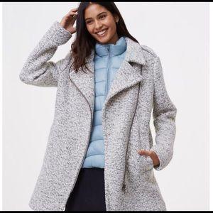 Loft asymmetrical wool coat